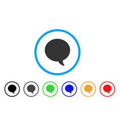 message bubble rounded icon vector image