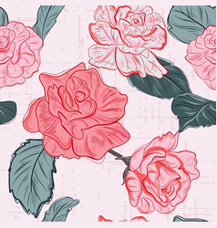 modern floral pattern rose flowers romance vector image