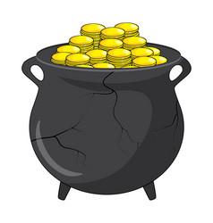 money gold broken pot design isolated on white vector image