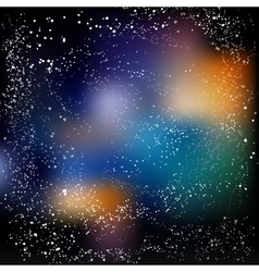 Multicolored space background with milky way eps vector