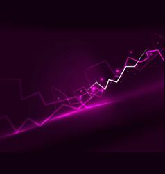Neon lightning background vector