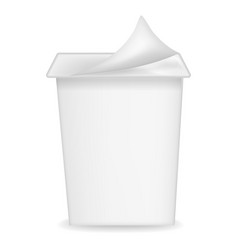 new yogurt box mockup realistic style vector image