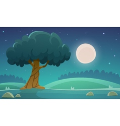 Night Countryside Landscape vector image