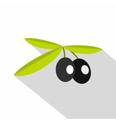Olives icon flat style vector image