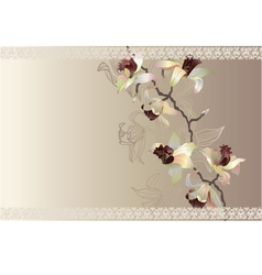 orchid wedding cart vector image