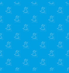 pirate parrot pattern seamless blue vector image
