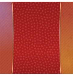 Realistic Valentines Day red and gold Banner vector image