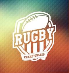 Rugby championship logo sport vector