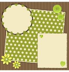 scrap book layout vector image