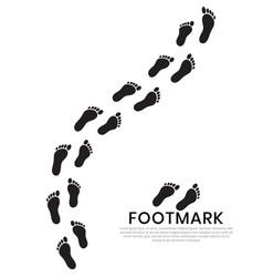 Silhouette human footprints baby footsteps vector