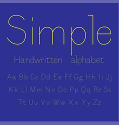simple handwritten alphabet vector image