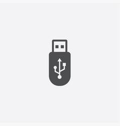 Simple usb icon vector