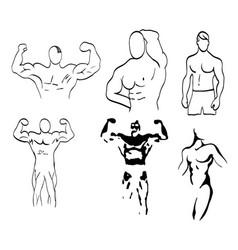Sketch of man torso vector