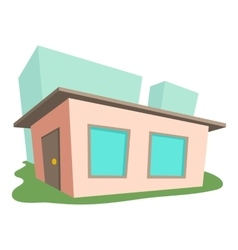 Small house icon cartoon style vector image