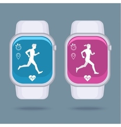 Smart watch technology with sport fitness tracker vector image