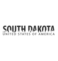 South dakota usa united states of america text vector