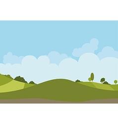 Spring Green Landscape vector