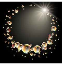 star and bubbles vector image