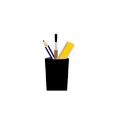stationery logo vector image
