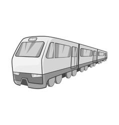 Suburban electric train icon vector image