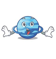 Surprised planet uranus in the cartoon form vector