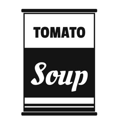Tomato soup can icon simple style vector