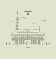 town hall in copenhagen denmark vector image