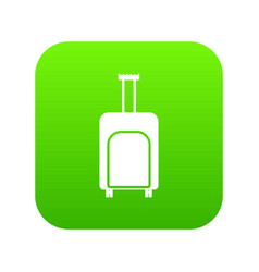 travel suitcase icon digital green vector image