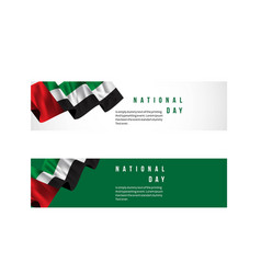 Uae national day template design vector