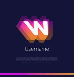 w-monogram-logo vector image