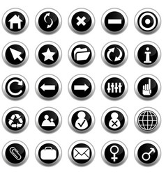 Webpage icons collection vector