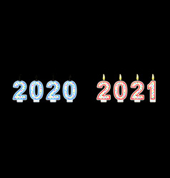 year change from 2020 to 2021concept banner vector image
