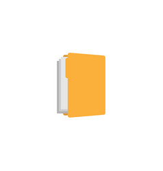 yellow folder graphic design template vector image