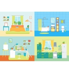Cartoon Interior Basic Room of Home vector image vector image