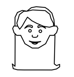 silhouette face happy woman icon vector image