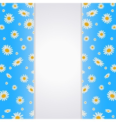 Summer background with blank paper card vector image