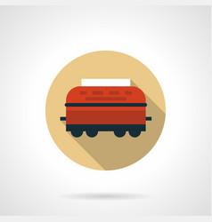 wagon-refrigerator beige round icon vector image vector image