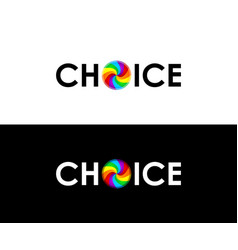 colorful choice symbol vector image vector image