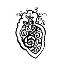Decorative heart Ethnic pattern vector image
