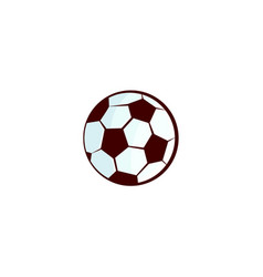 flat sketch football ball isolated vector image vector image