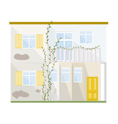 modern architecture facade building vector image vector image