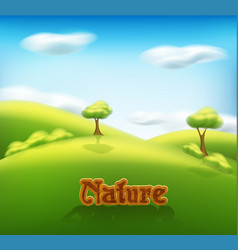 spring-summer landscape with trees vector image vector image