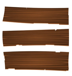 Three Old Planks vector image vector image