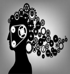 abstract gear hair vector image vector image