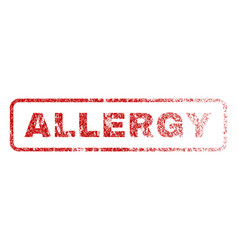 allergy rubber stamp vector image vector image