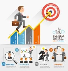 Businessman walking on arrow vector image