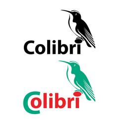 Colibri logo vector