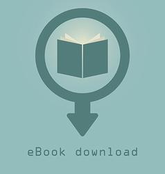 downloading e books icon vector image