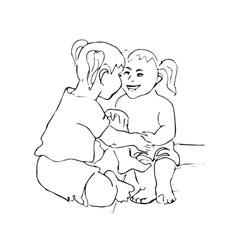Happy kid cartoon doodle vector