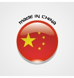 Made in China sign with chinese flag vector image